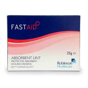 FastAid Absorbent Lint Wound Dressing 25g