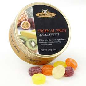 Simpkins Tropical Fruit Travel Sweets 200g (7oz)