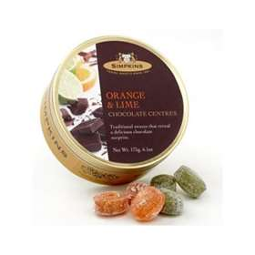 Simpkins Orange & Lime Chocolate Centres Travel Sweets 175g (6.1oz)