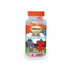 Haliborange Mr Men Little Miss Calcium and Vitamin D strawberry softies 30