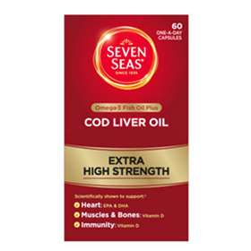 Seven Seas Maximum Strength Cod Liver Oil Capsules 30