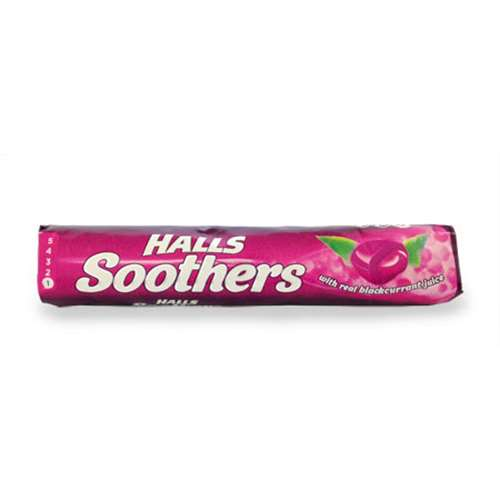 Click to view product details and reviews for Halls Soothers Blackcurrent Juice Sweets 45g.