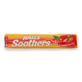 Halls Soothers Peach and Raspberry Juice Sweets 45g