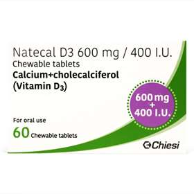Natecal D3 Chewable 600mg Tablets 60