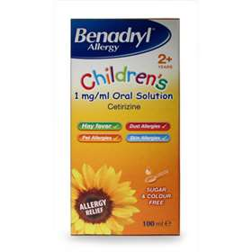 Benadryl Allergy Childrens Oral Solution 100ml