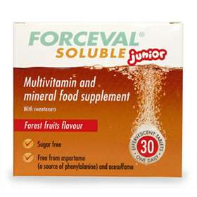 Forceval Soluble Junior Effervescent Tablets 30