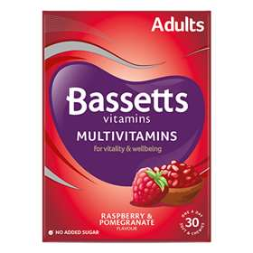 Bassetts Multivitamins Adults Raspberry & Pomegranate Soft Chewies 30