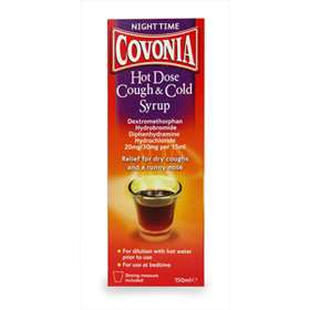 Covonia Night Time Hot Dose Cough and Cold Syrup 150ml