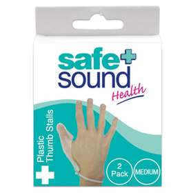 Safe and Sound Plastic Finger Stall Medium 2 pack