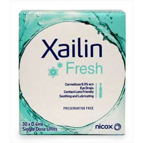 Xailin Fresh Eye Drops 0.4mlx30 Single Dose Units