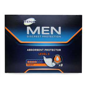 Tena for men discreet protection level 3 8 pads