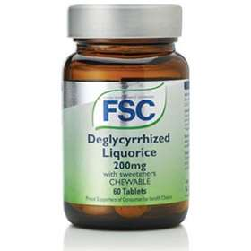 FSC Deglycyrrhized Liquorice 200mg Chewable  With Sweeteners 60 Tablets