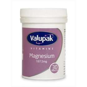 Valupak Magnesium 187.5mg 30