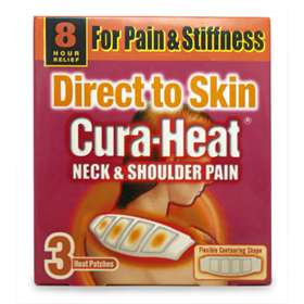 Cura-Heat Direct to Skin Neck and Shoulder Pain Heat Patches 3