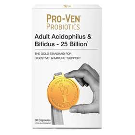 Proven Probiotics Adult Acidophilus & Bifidus 25 Billion 30 Capsules