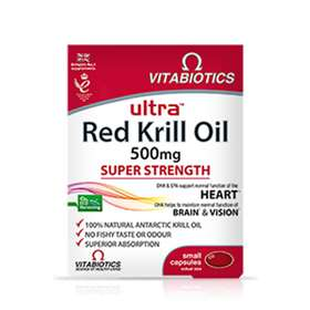 Vitabiotics Ultra Red Krill Oil 500mg Super Strength 30 Capsules