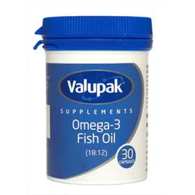Valupak Supplements Omega-3 Fish Oil 30 Capsules