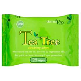 Derma V10 Tea Tree Cleansing wipes 25
