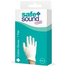 Safe And Sound Health Cotton Gloves 1 Pair Medium
