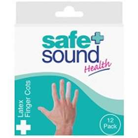 Safe And Sound Health Latex Finger Cots 12 Pack
