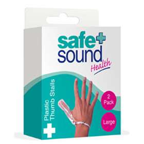 Safe and Sound Plastic Thumb Stalls Pack 2 Large