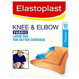 Elastoplast Knee and Elbow Fabric Plasters 10