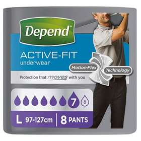 Depend Active Fit Underwear For Men Large 8
