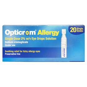 Opticrom Allergy Eye Drops 2% 20 Single Doses