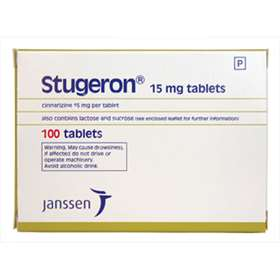 Stugeron 15mg 100 Tablets