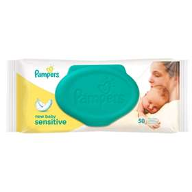 Pampers Baby Wipes Sensitive New Baby 50