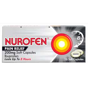 Nurofen Pain Relief 16 200mg Soft Capsules.