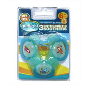 Griptight 3 Orthodontic Soothers blue 6 Months+