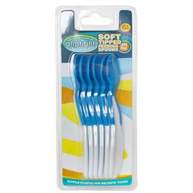 Griptight 6 Soft Tipped Feeding Spoons Blue/White 6+ Months