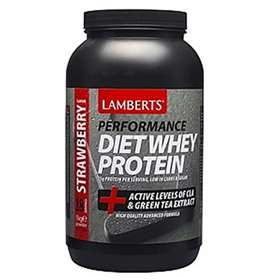 Lamberts Performance Diet Whey Protein Strawberry With Active Levels Of CLA and Green Tea Extracting 1kg