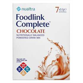 Nualtra Foodlink Complete Chocolate Powdered Drink Mix 7 Servings
