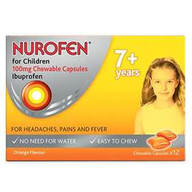 Nurofen For Children Orange Flavoured Chewable Capsules 12