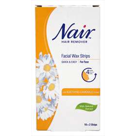 Nair Facial Wax Strips with Soothing Camomile Extract 10+2 strips