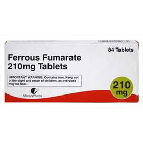 Ferrous Fumarate 210mg Tablets 84