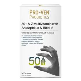 ProVen Probiotics 50+ A-Z Multivitamins With Acidophilus & Bifidus - 30 Capsules