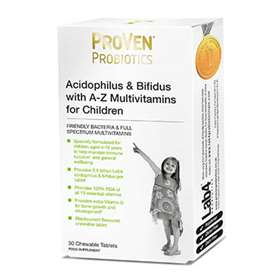 ProVen Probiotics Acidophilus & Bifidus With A-Z Multivitamins For Children - 30 Chewable Tablets