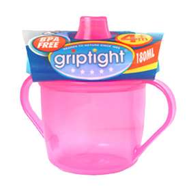 Griptight Trainer Cup 4months+ 180ml Pink