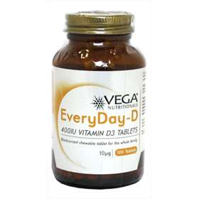 Vega EveryDay-D 400IU Vitamin D3 - 100 Tablets