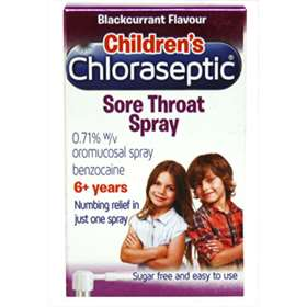 Childrens Chloraseptic Sore Throat Spray - 6+ years - Blackcurrant Flavour