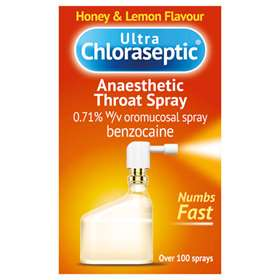 Ultra Chloraseptic Anaesthetic Throat Spray Honey & Lemon 15ml