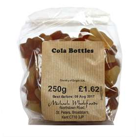 Michaels Wholefoods Cola Bottles 250g