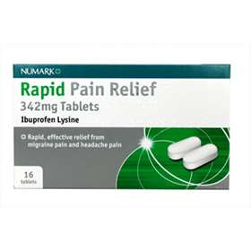 Numark Rapid Pain Relief - 16 342mg Tablets