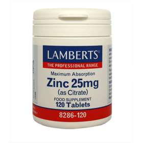 Lamberts Zinc (as citrate) 25mg - 120 Tablets