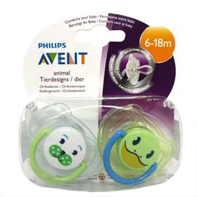 Avent Animal Soothers 2 Pack 6-18m