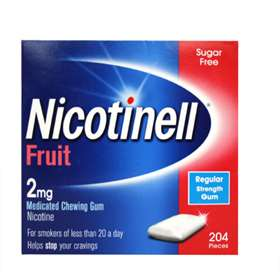 Nicotinell Fruit 2mg Gum 204 Regular Strength