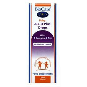 BioCare Baby A,C,D Plus Drops 15ml